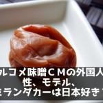 マルコメ味噌CMの外国人女性、モデル、ミランダカーは日本好き?