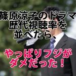 篠原涼子のドラマ歴代視聴率並べたら、やっぱりフジがダメだった!