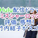 Hulu配信ドラマ『ミスシャーロック』評価・感想!竹内結子がスゴ!