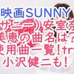 映画SUNNY(サニー)安室奈美恵の挿入曲名は?使用曲一覧まとめ