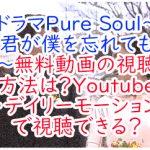 ドラマPure Soul〜君が僕を忘れても〜無料動画の視聴方法は?Youtubeデイリーモーションで視聴できる?